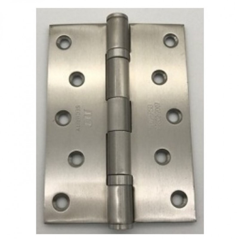 NT 127 x 89 x 3MM 2BB BUTT HINGE C/W WOOD SCREW; SATIN STAINLESS STEEL