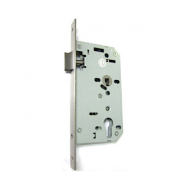 NT 7651 BS60MM MORTICE NIGHTLATCH C/W STANDARD STRIKE PLATE & DUST BOX; SATIN STAINLESS STEEL